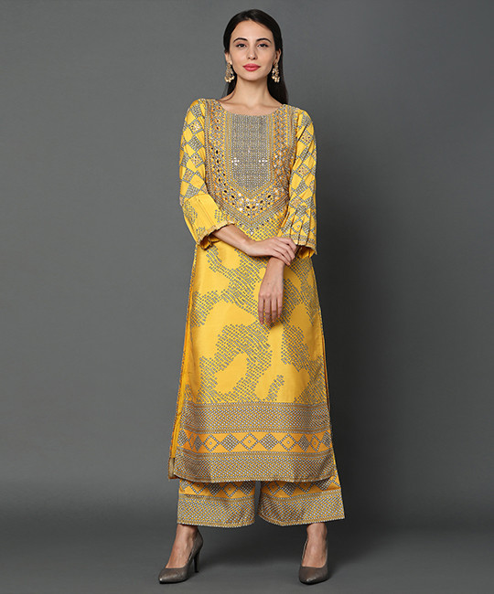 Yellow Color Palazzo Set Collection