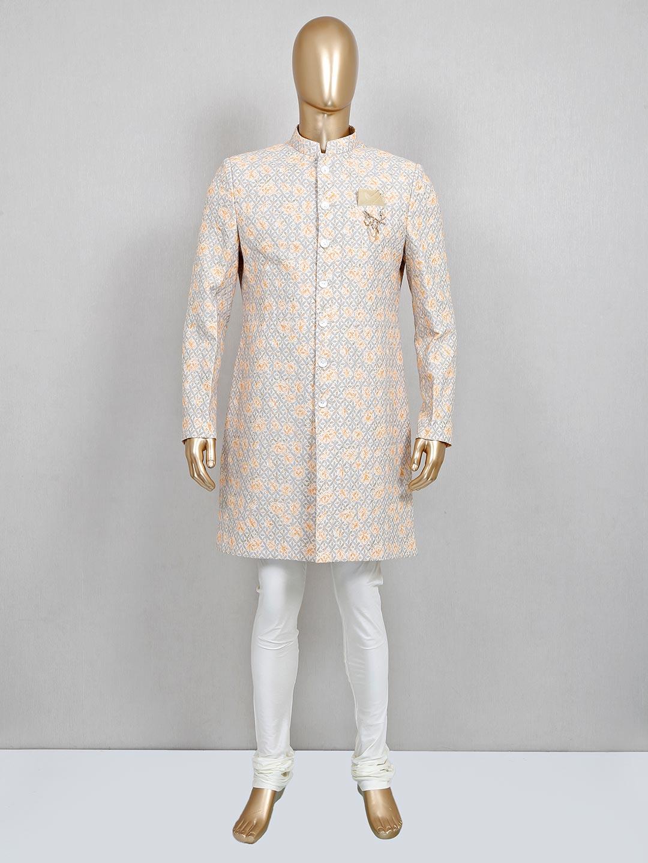 A hue of beige in cotton sherwani?imgeng=w_400