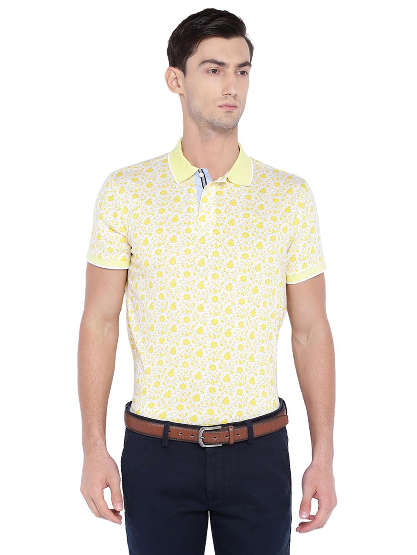 Allen solly yellow hue cotton t-shirt?imgeng=w_400