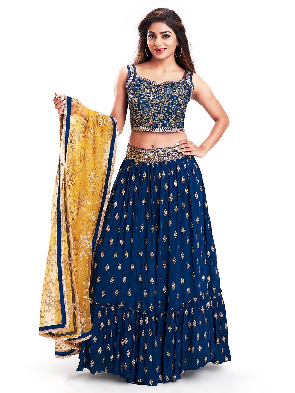 Alluring blue georgette lehenga choli for wedding functions?imgeng=w_400