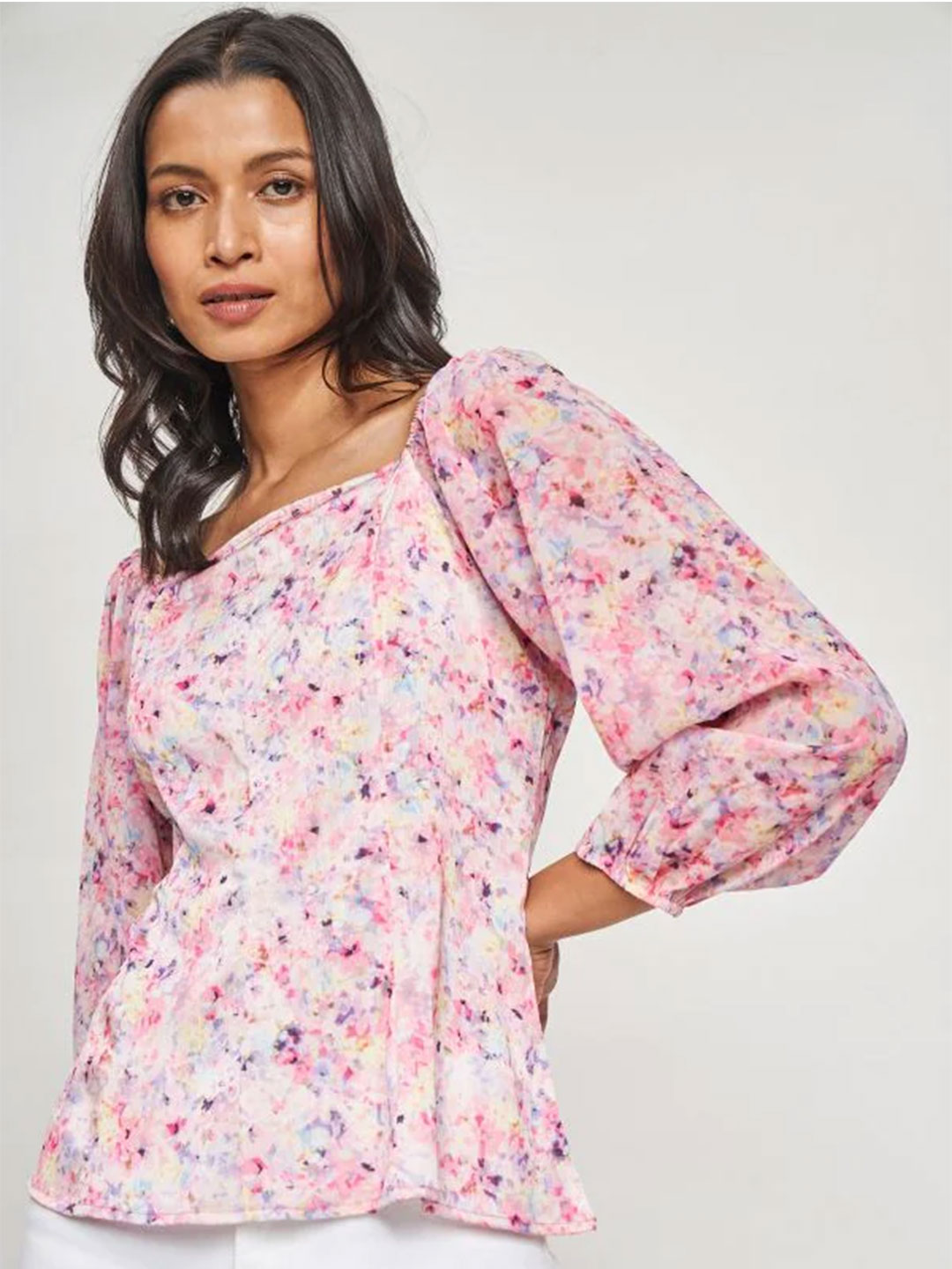 AND Multi Color Floral Printed Top?imgeng=w_400