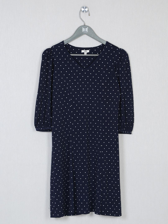 AND navy blue polka dot dress for women?imgeng=w_400