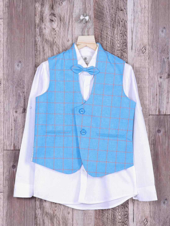 Aqua color checks waistcoat?imgeng=w_400