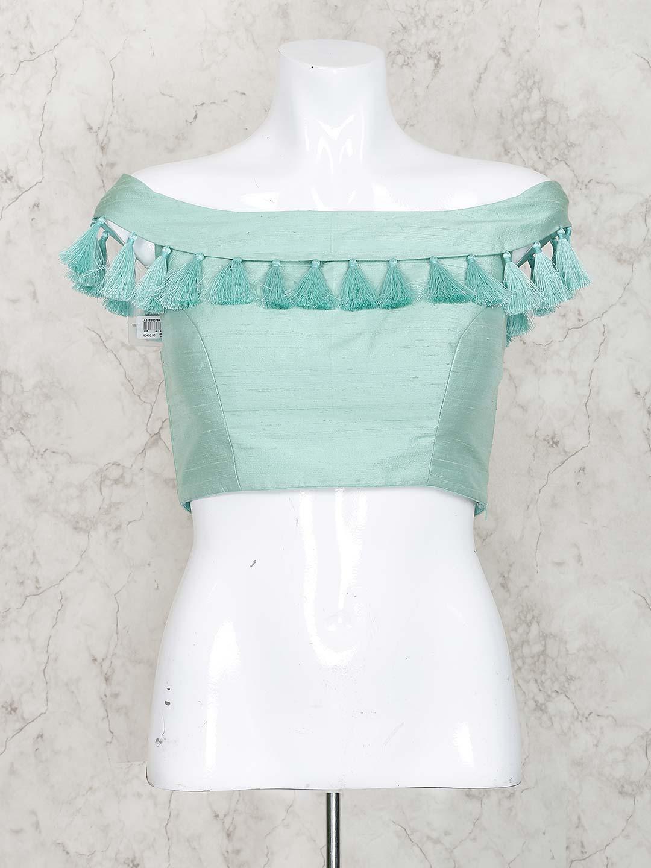 Aqua hue raw silk blouse?imgeng=w_400