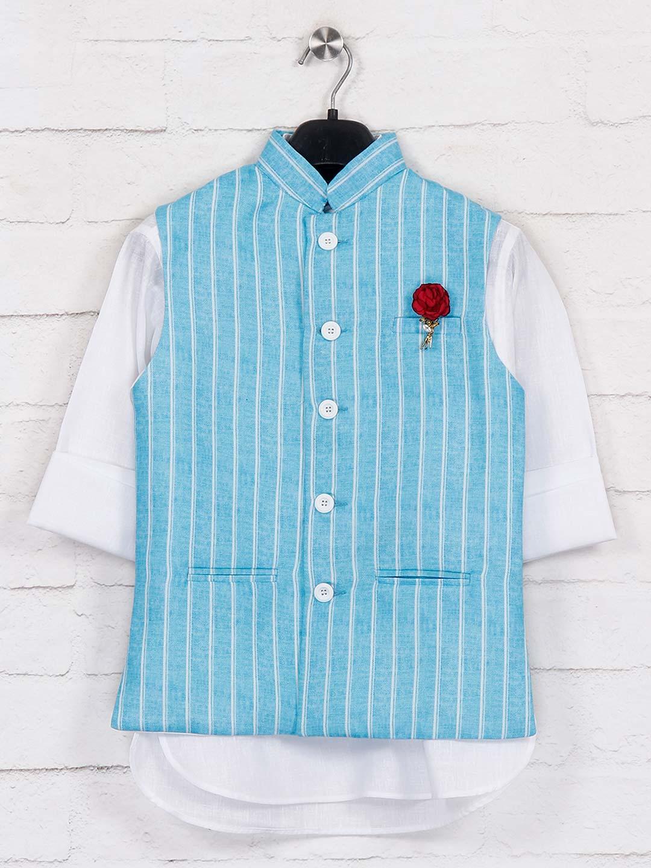 Aqua jute waistcoat with churidar?imgeng=w_400