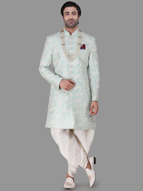 Aqua silk indowestern for wedding?imgeng=w_400