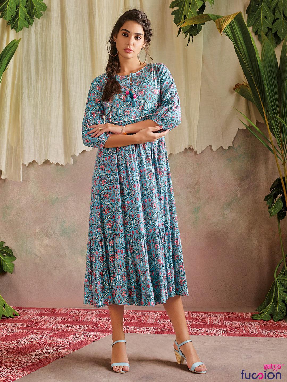 Attractive grey cotton printed casual wear kurti?imgeng=w_400