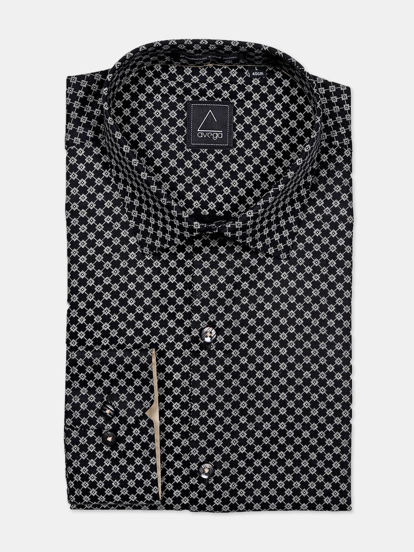 Avega black printed cotton shirt?imgeng=w_400