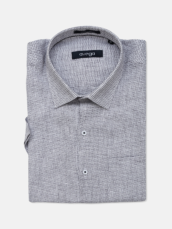 Avega formal wear grey checks pattern linen shirt?imgeng=w_400
