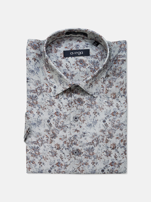 Avega grey color printed linen shirt?imgeng=w_400