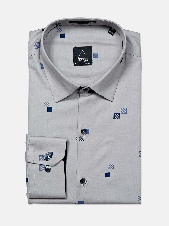 Avega grey printed pattern cotton shirt?imgeng=w_400