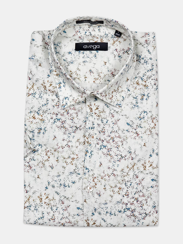 Avega linen fabric cream printed mens shirt?imgeng=w_400