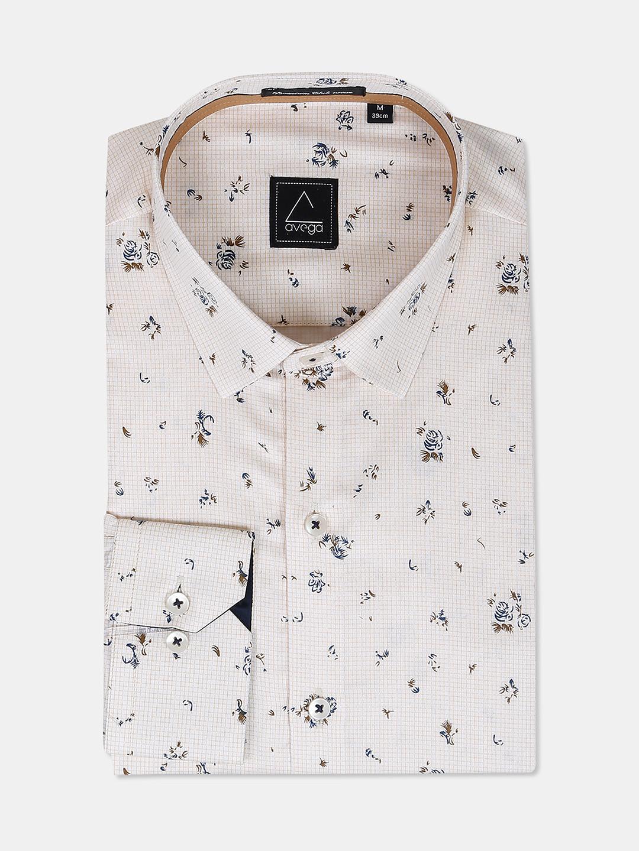 Avega presented cream printed shirt?imgeng=w_400