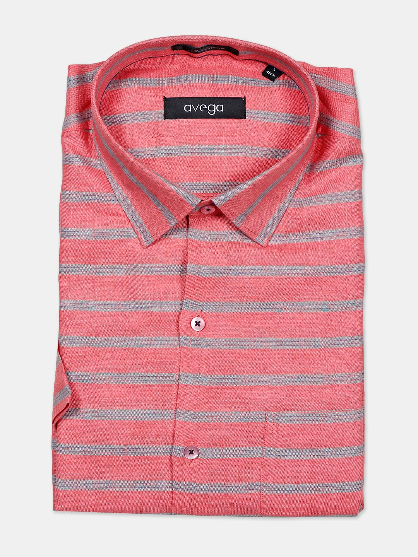 Avega printed cream linen formal shirt for mens?imgeng=w_400
