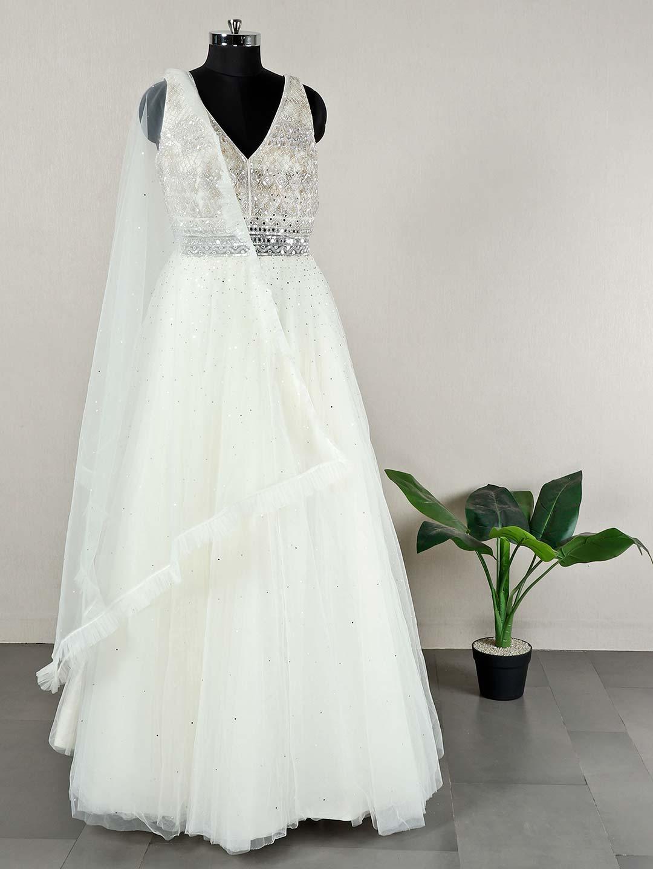 Beautiful cream wedding wear net anarkali suit?imgeng=w_400
