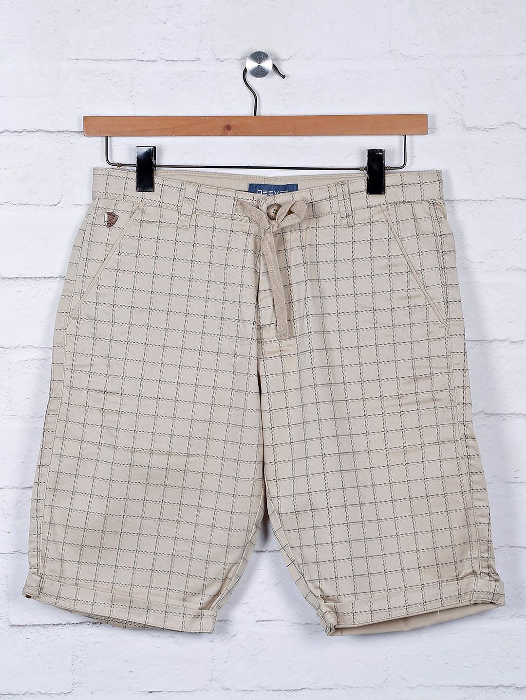 Beevee beige hue checks pattern shorts?imgeng=w_400