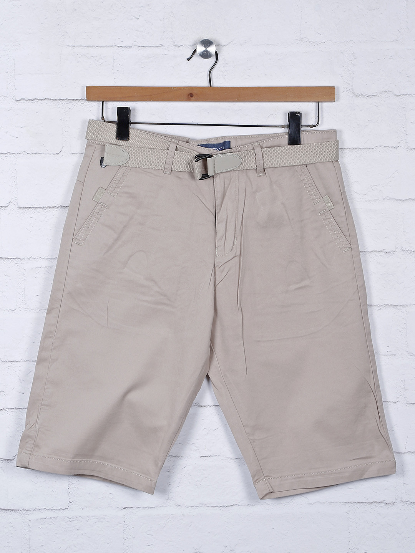 Beevee beige mens solid casual shorts?imgeng=w_400