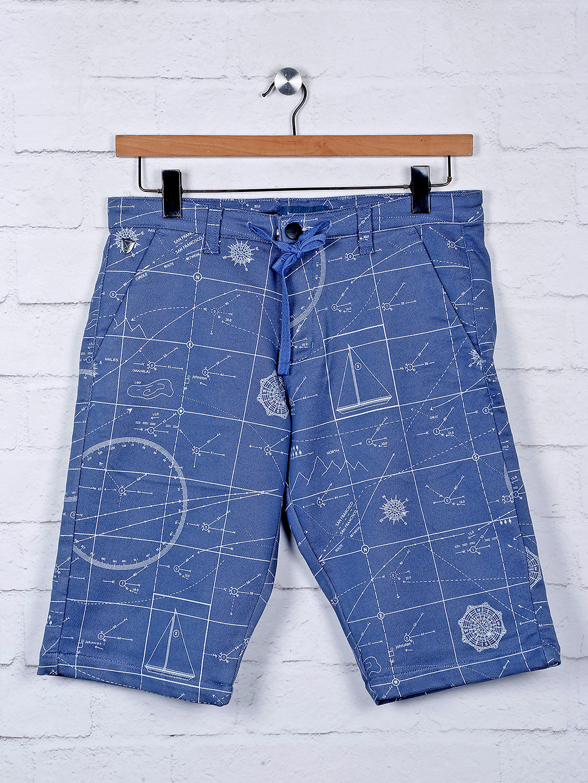 Beevee blue hue printed cotton shorts?imgeng=w_400
