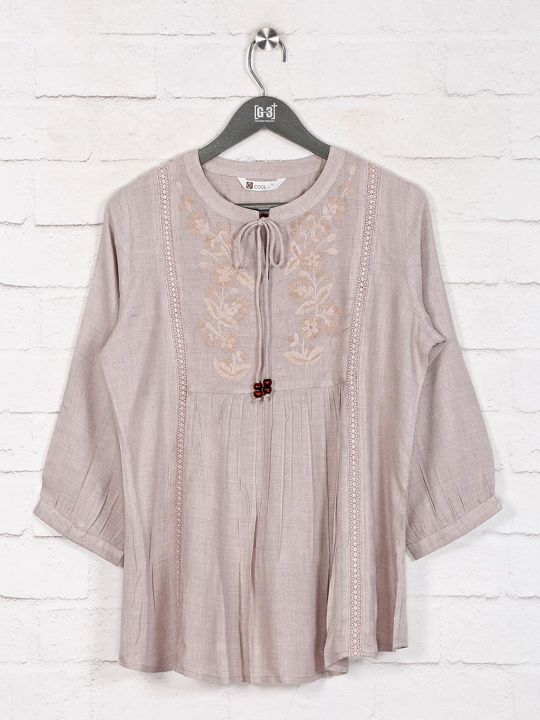 Beige cotton casual top in cotton?imgeng=w_400