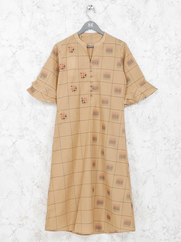 Beige hue colored kurti in cotton?imgeng=w_400