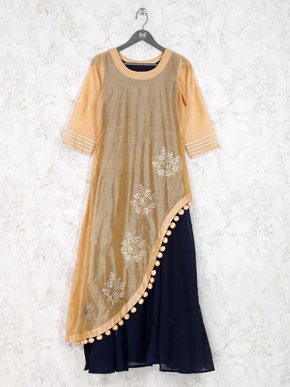 Beige hue cotton fabric designer kurti?imgeng=w_400