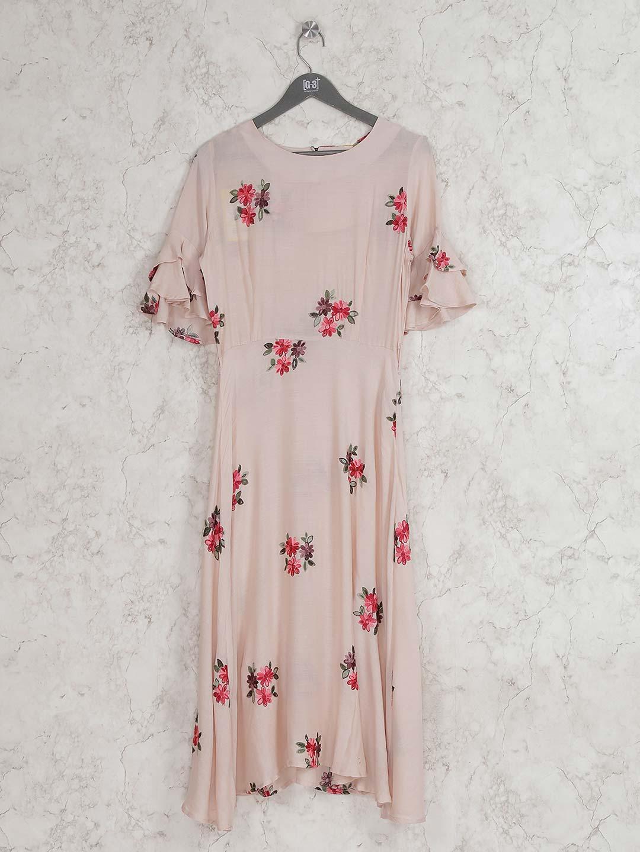 Beige hue cotton fabric round neck kurti?imgeng=w_400