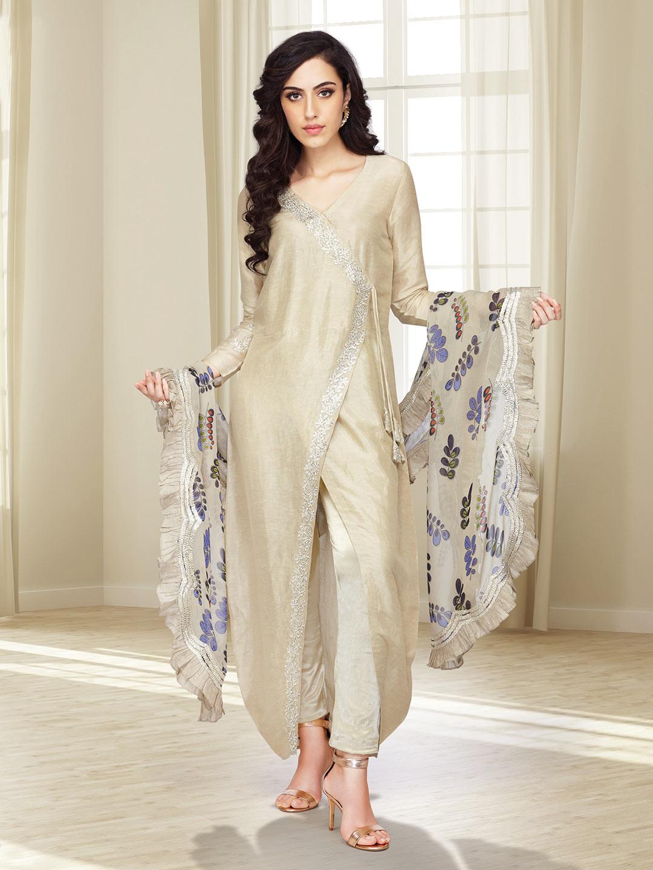Beige hue cotton silk designer salwar suit?imgeng=w_400