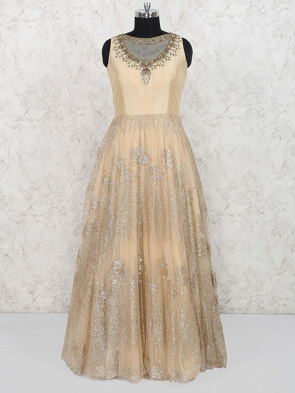 Beige hue lovely gown in net?imgeng=w_400