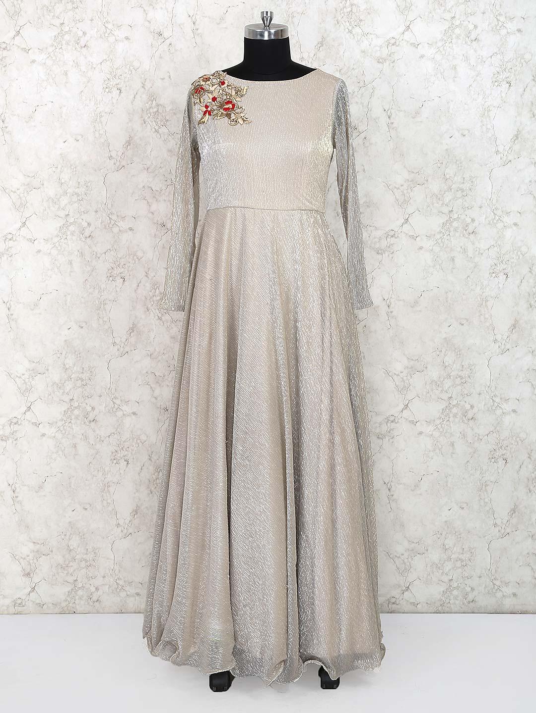 Beige hue party gown in chiffon?imgeng=w_400