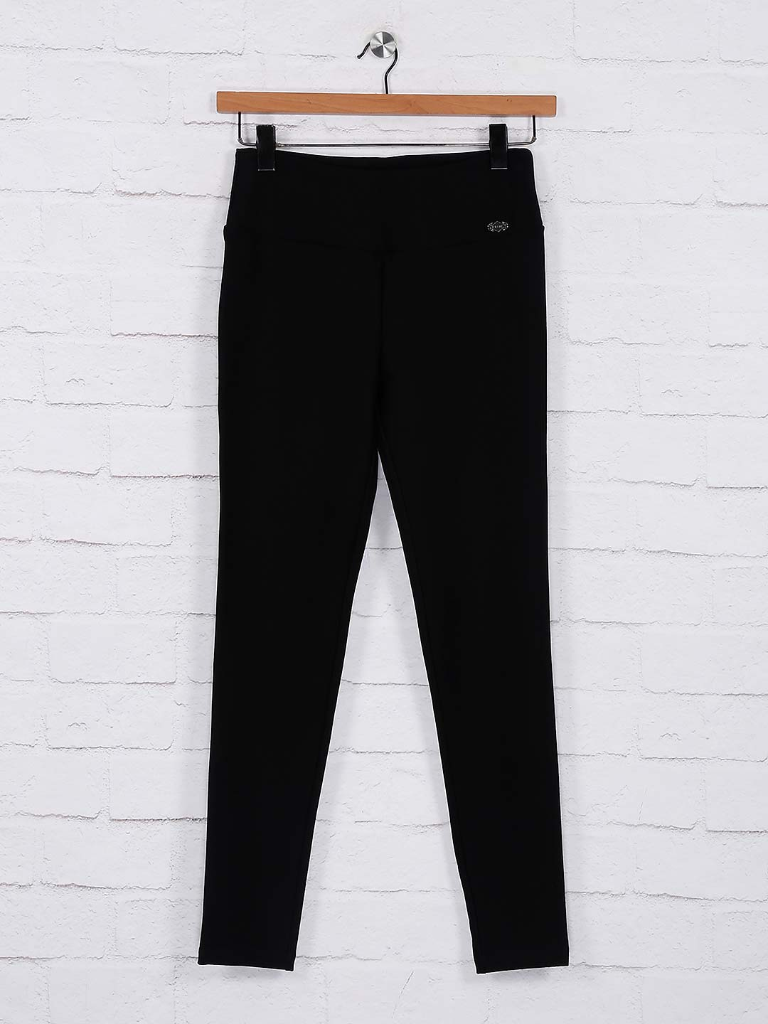 Black colored cotton fabric jeggings?imgeng=w_400