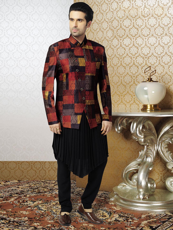 Black silk mens waistcoat set?imgeng=w_400