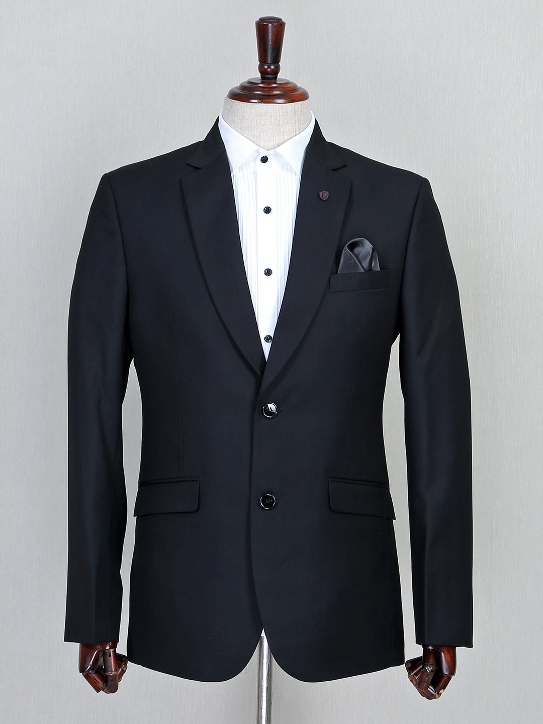Black terry rayon fabric solid mens coat suit?imgeng=w_400