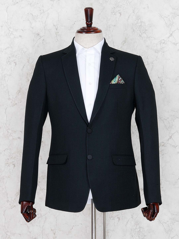 Black terry rayon party wear blazer?imgeng=w_400