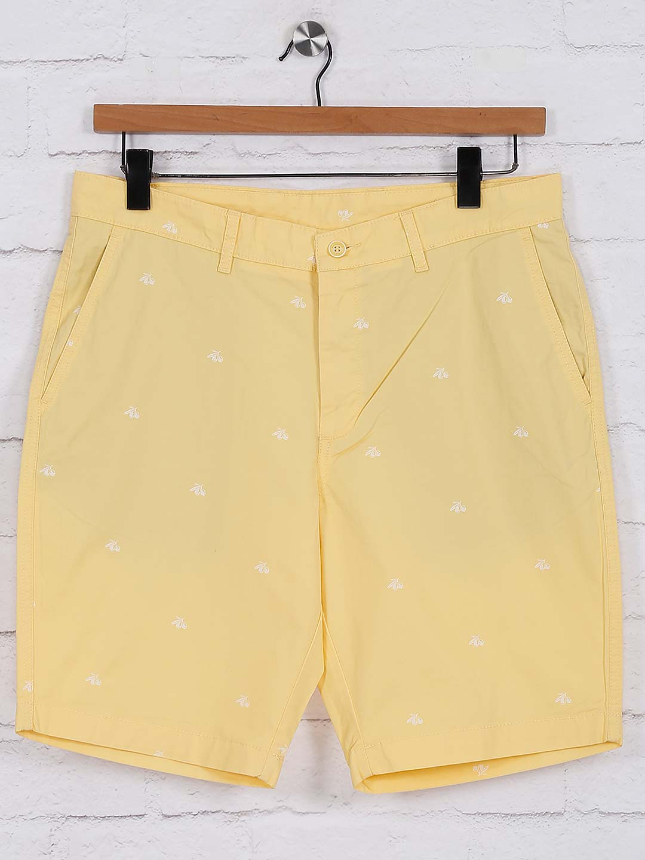 Blackberrys cotton yellow printed shorts?imgeng=w_400