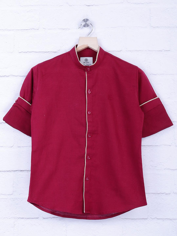 Blazo maroon hue solid shirt?imgeng=w_400