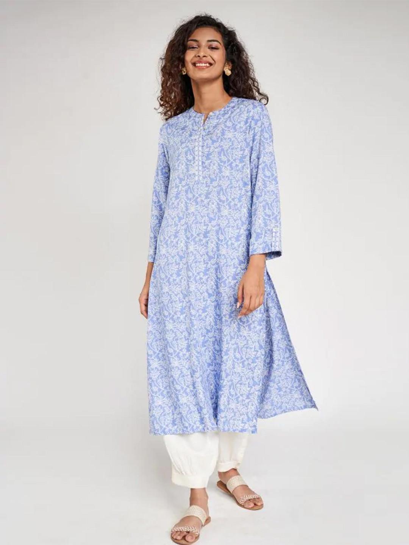 Blue casual wear kurti for women in cotton?imgeng=w_400