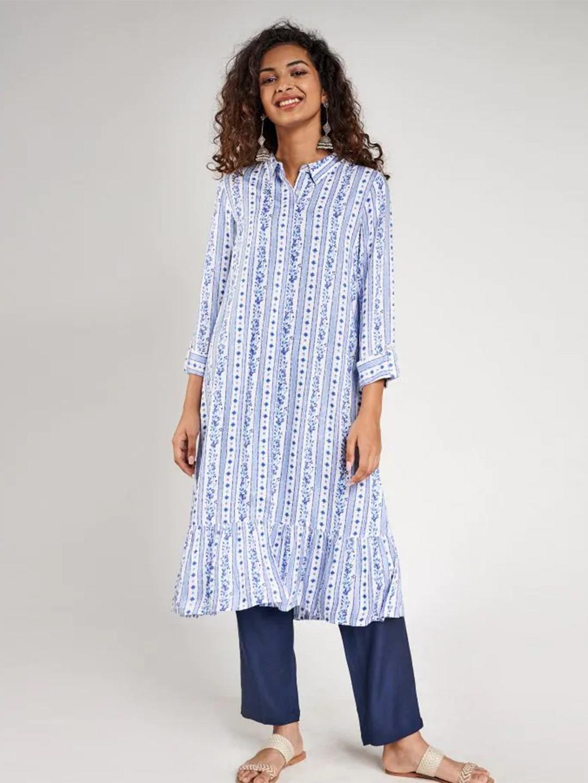 Blue festive wear cotton wear kurti?imgeng=w_400