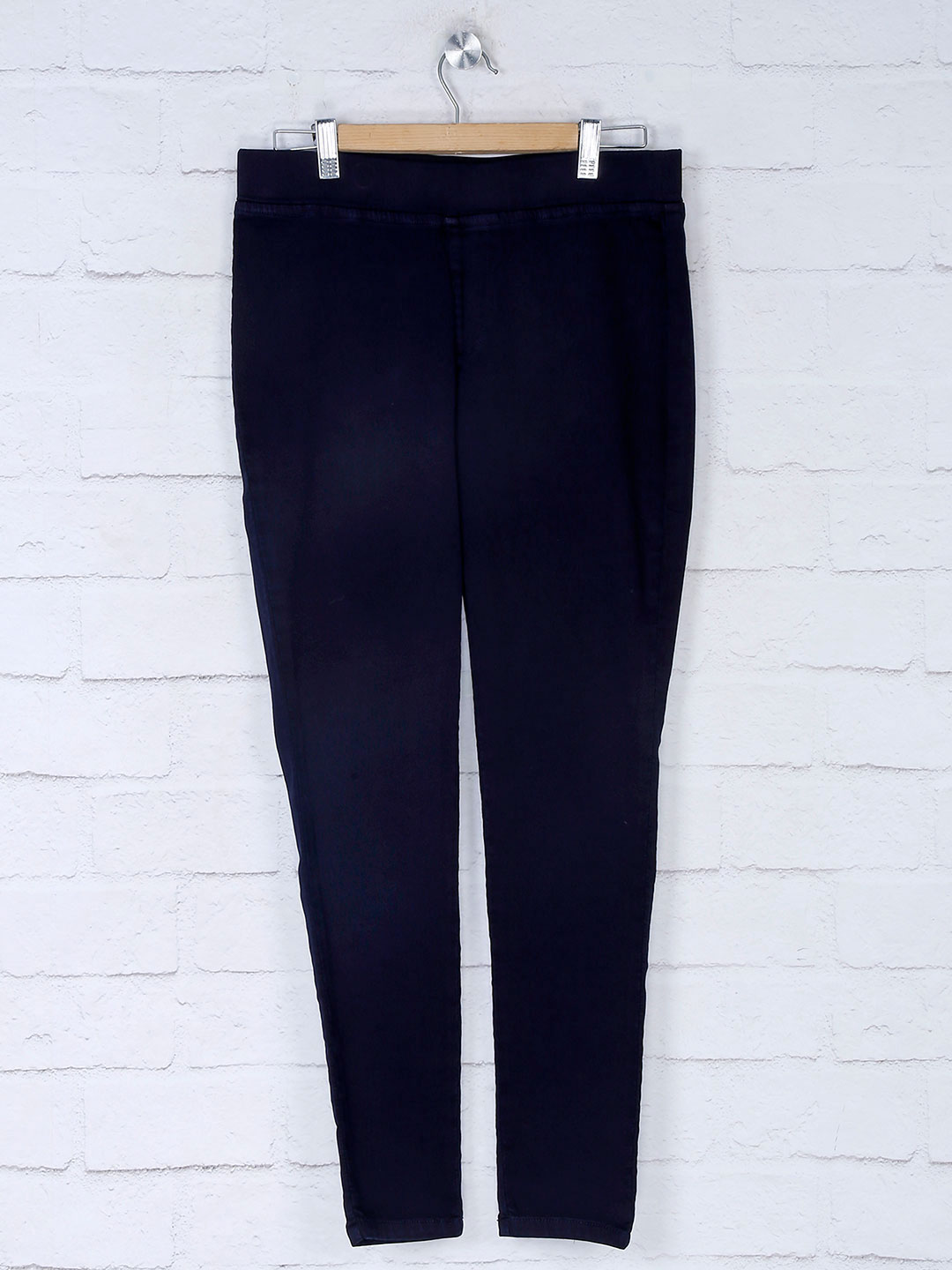 Boom navy blue casual jeggings in cotton?imgeng=w_400