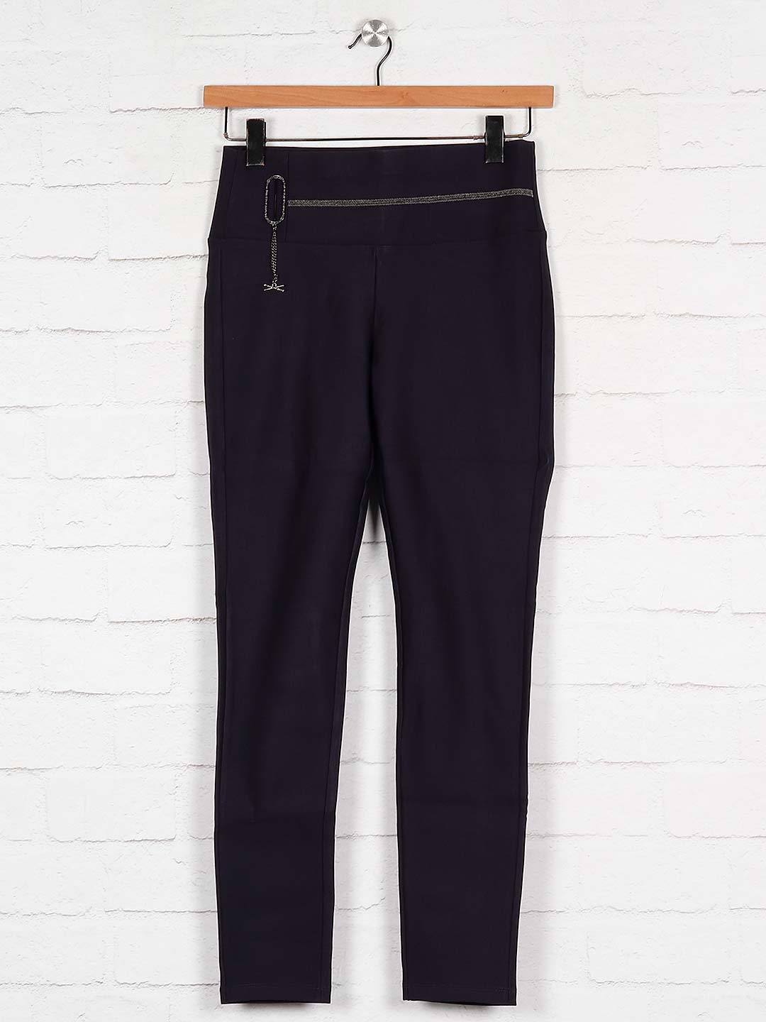 Boom navy blue cotton casual jeggings?imgeng=w_400