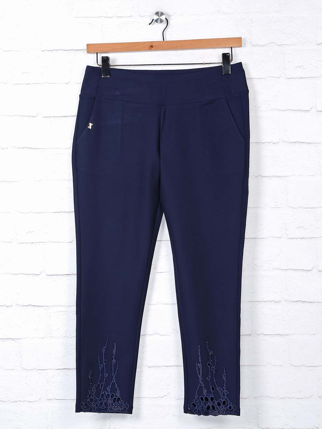 Boom navy cotton casual jeggings?imgeng=w_400