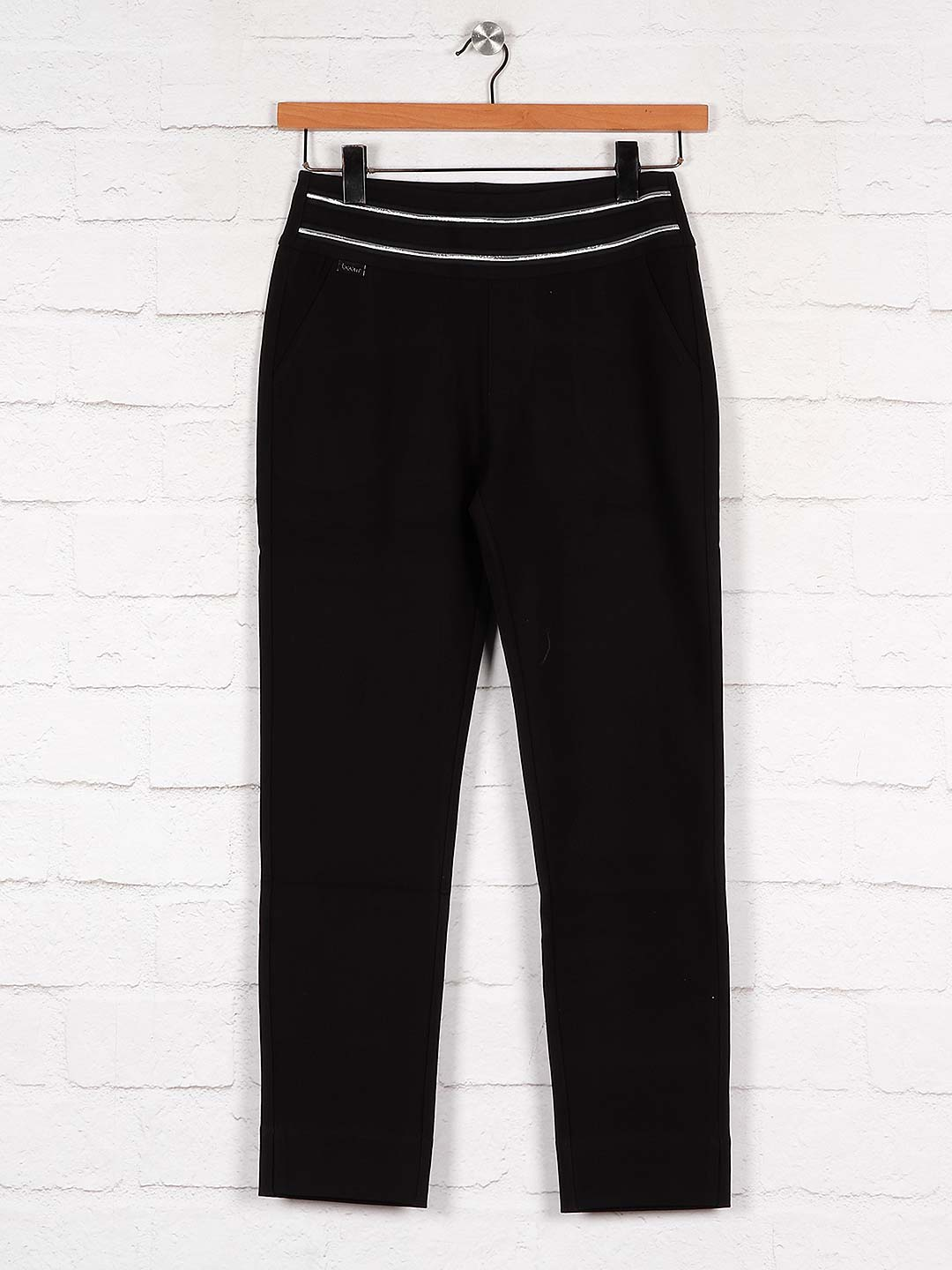 Boom solid black cotton fabric jeggings?imgeng=w_400