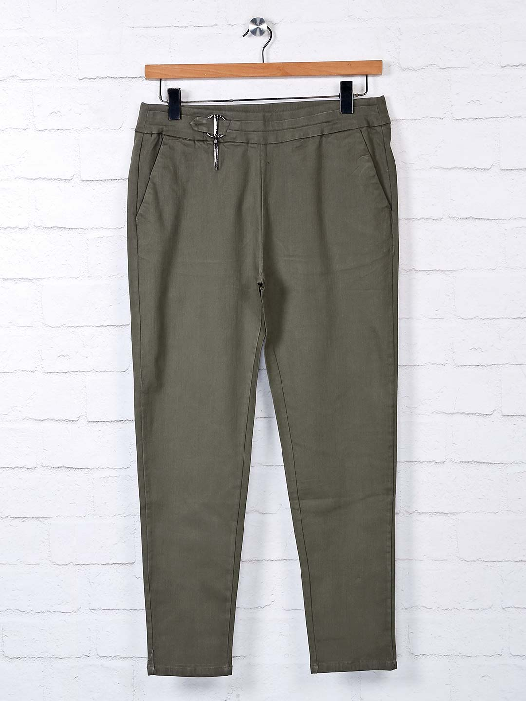 Boom solid olive cotton jeggings?imgeng=w_400
