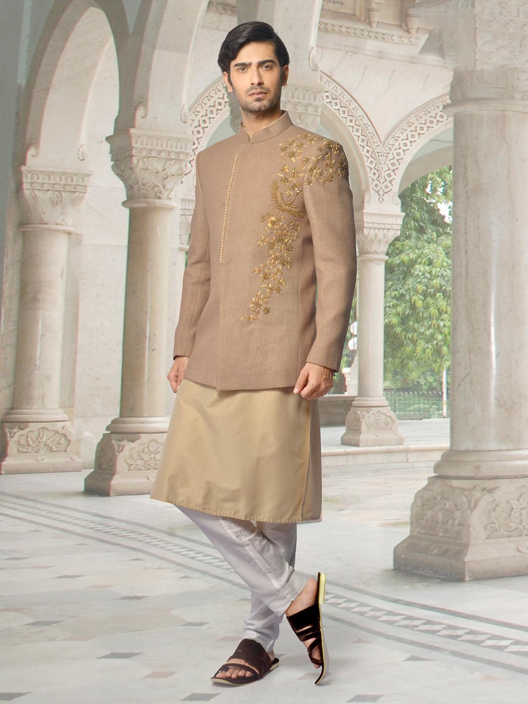 Brown designer indo western for mens?imgeng=w_400