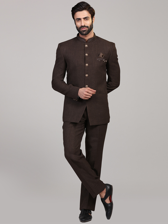 Brown hue solid jodhpuri party coat suit?imgeng=w_400