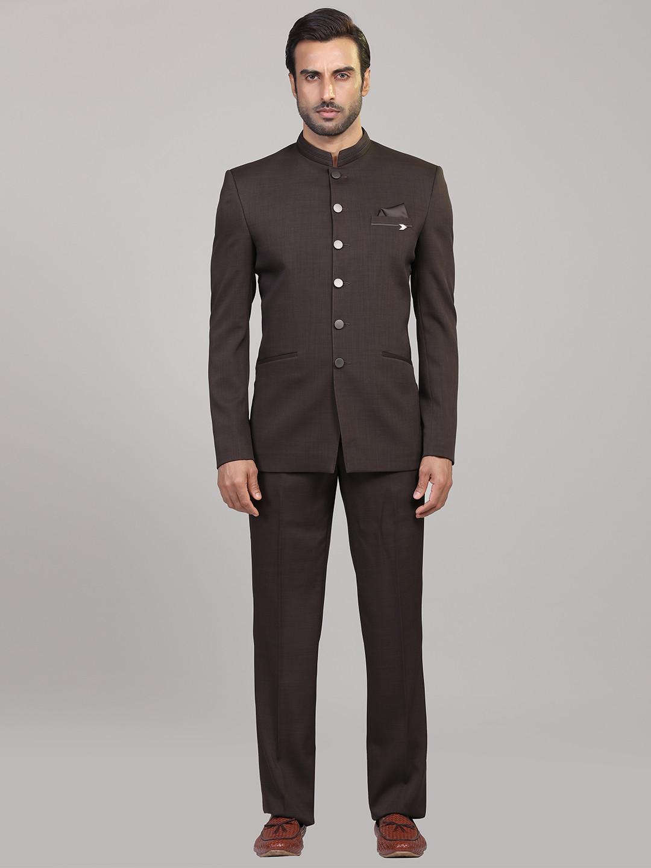 Brown hue terry rayon jodhpuri suit?imgeng=w_400