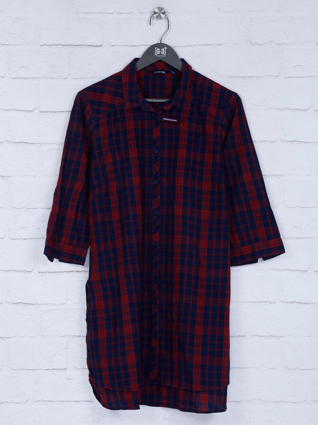 Checks red and navy coor top for casual?imgeng=w_400