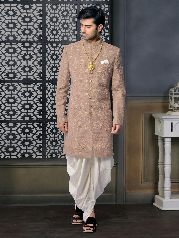 Brown silk designer sherwani set?imgeng=w_400