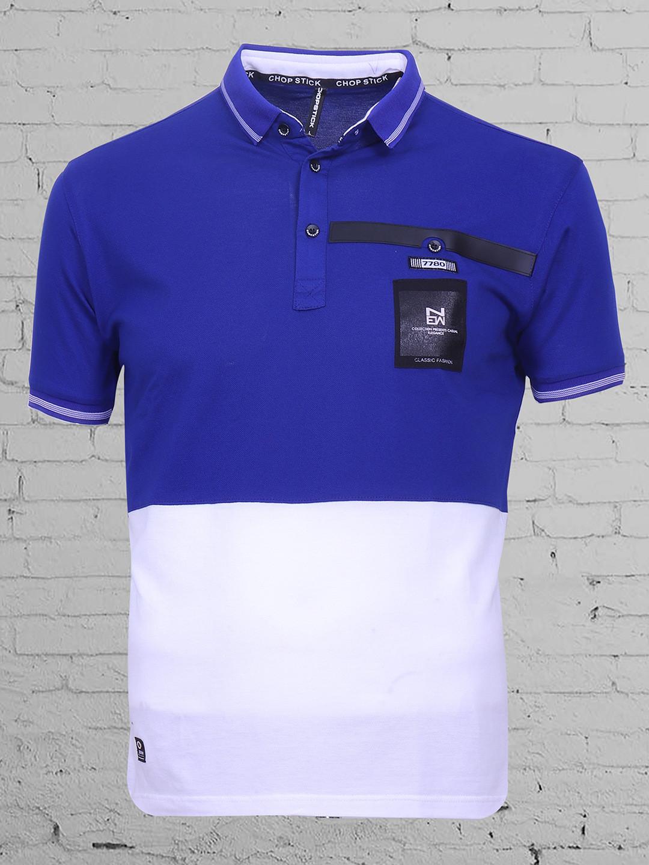 Chopstick white and blue plain cotton t-shirt?imgeng=w_400