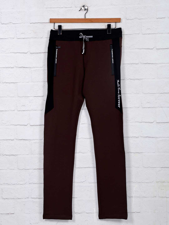 Chopstick brown mens cotton track pant?imgeng=w_400