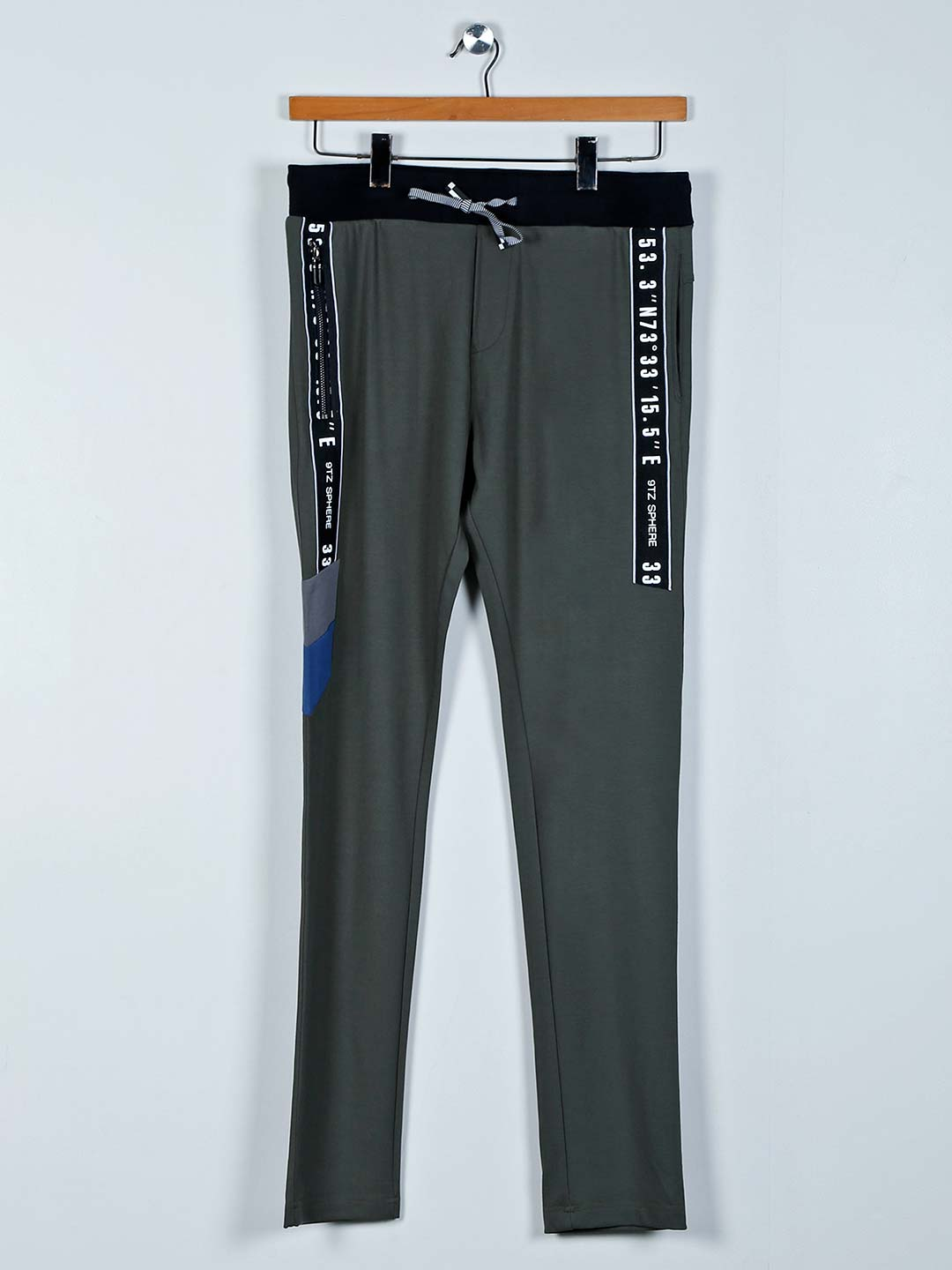 Chopstick cotton olive solid track pant?imgeng=w_400